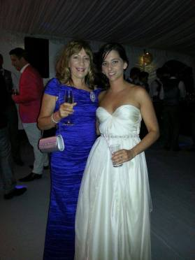 The beautiful Mother of the Groom and the stunning bride!!